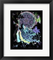 Framed Dreamcatcher Wolf