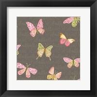 Framed Wild Roses Butterflies