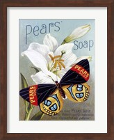 Framed Pears' soap