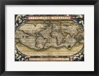 Framed Cosmos-Ortelius World Map 1570