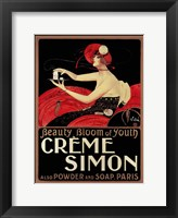 Framed Creme Simon