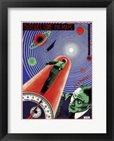 Framed Journey To Mars Russian Constructivist