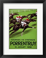 Framed Laubi Hugo Courses Chevaux Porrentruy Year-1946