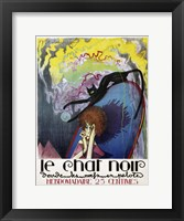 Framed Le Chat Noir by Henri Desbarbieux, 1922