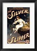 Framed Silver Slipper