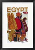 Framed Egypt Fly TWA