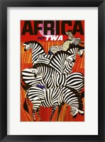 Framed Africa Fly TWA