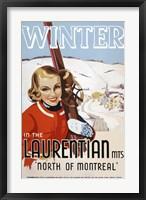Framed Winter in the Laurentian Mts.
