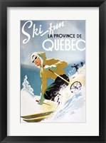 Framed Ski Fun Quebec