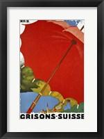 Framed Grisons Suisse