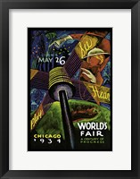 Framed Chicago World's Fair 1934