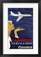 Framed Caravelle Service 1960 Finnair