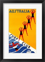 Framed Australia Surf Club