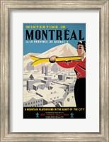 Framed Wintertime in Montreal
