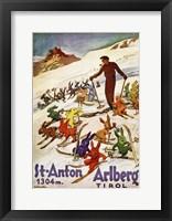 Framed St. Anton Tirol