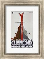 Framed Chamonix Mont Blanc