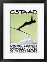 Framed Gstaad Grandes Courses 1928