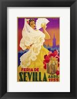 Framed Feria De Sevilla 1955