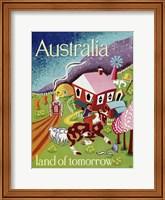 Framed Australia Land of Tomorrow