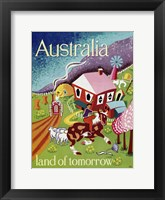 Framed Australia Land of Tomorrow