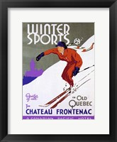 Framed Winter Sports Chateau Frontenac