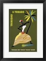 Framed Trinidad & Tobago Tourist Board