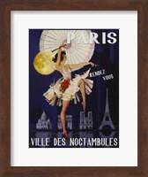 Framed Paris Ville Des Noctambules