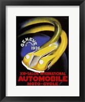 Framed Automobile Geneve 1936