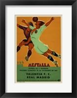 Framed Valencia vs Real Madrid 1931