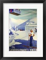 Framed Tjekkoslavakiet I Vinter