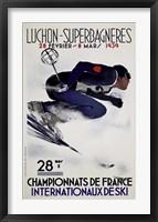 Framed Luchon Superbagneres 1939