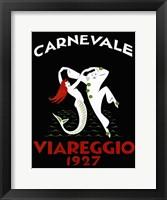 Framed Carnevale Viareggio 1927