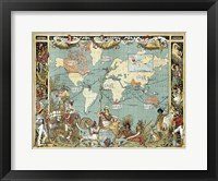 Framed British Empire In 1886