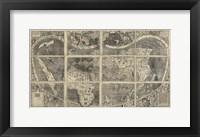 Framed 1507 Waldseemuller Very Hi Res XL