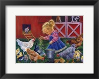 Framed Little Farm Girl