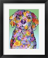 Framed Flowers Beagle