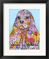 Framed Flowers Cocker Spaniel
