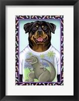 Framed Rottweiler Dinosaur
