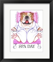 Framed Spa Bulldog