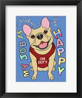 Framed French Bulldog Graphic Style