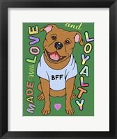 Framed Pitbull Graphic Style