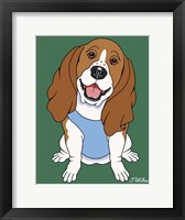 Framed Basset Hound