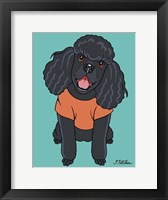 Framed Poodle Black