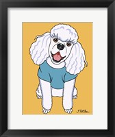 Framed Poodle White