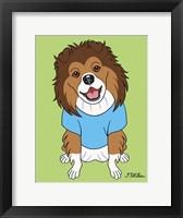 Framed Shetland Sheepdog