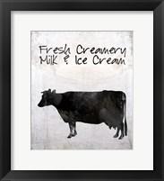 Fresh Creamery Milk & Ice Cream Framed Print