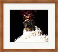 Framed Royal Love Pup - Golden Retriever