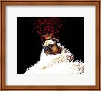 Framed Royal Love Pup - Pug