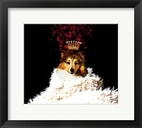 Framed Royal Love Pup - Sheltie