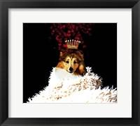 Framed Royal Love Pup - Sheltie
